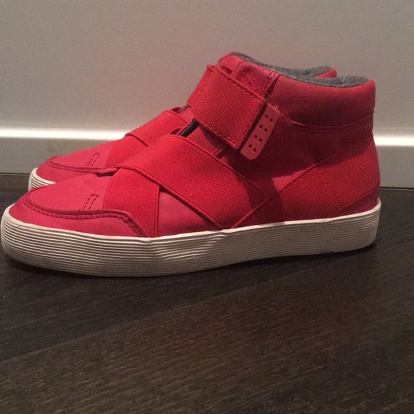 Zara Shoes | Zara Boys Red Hightop